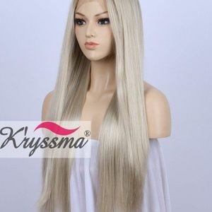 Accessories - Lace front  straight blond wig